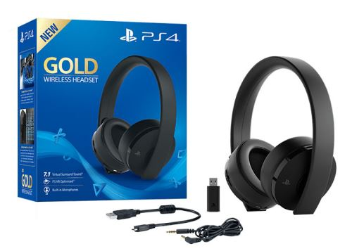 Casque-micro-sans-fil-Gold-Edition-Noire-pour-PS4