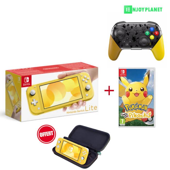 console Nintendo switch lite + jeu picachu + Manette pro prix maroc sur ENJOY PLANET
