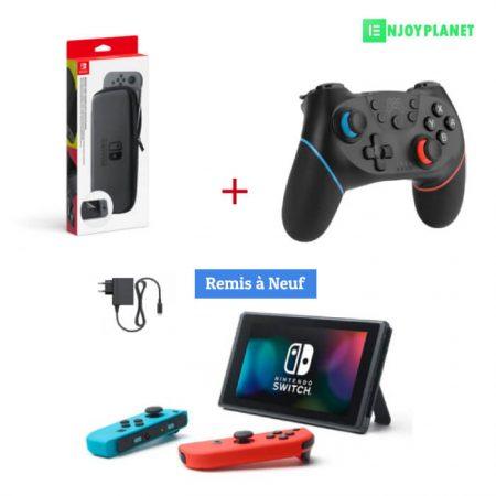 pack console nintendo switch + manette switch + pochette prix maroc ENJOYPLANET