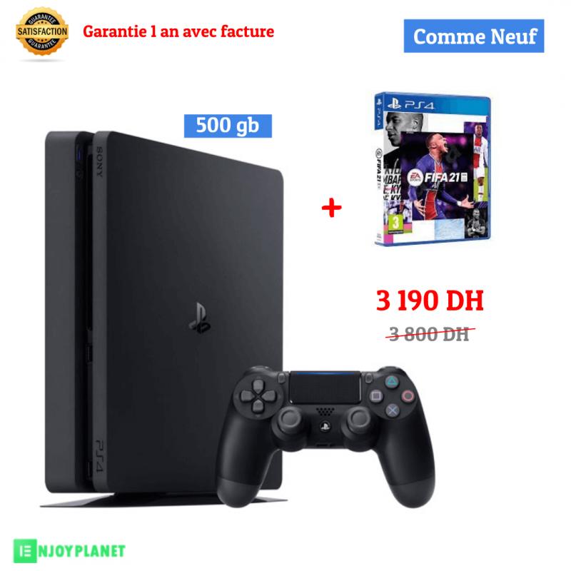 Ps4 500gb + FIFA21 prix maroc